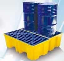 pallet de contenção para 2 tambores