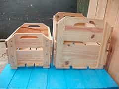caixa de madeira pallet