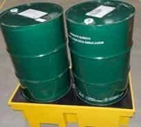 bacia de contenção para tambores de óleo